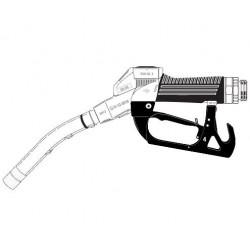 [ZVA2...0 U] Кран раздаточный с поворотной муфтой, носик ?19мм (ДТ) ? 80 л/мин, скоба без магнита.